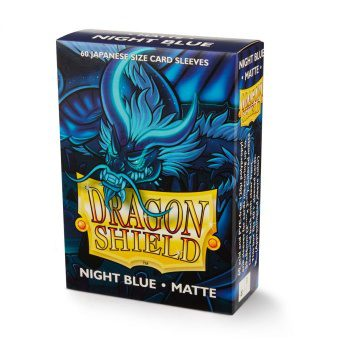 Dragon Shield Art Sleeves Japanese Size Matte Night Blue Delphion (60ct)
