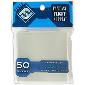 FFG Board Game Sleeves 70x70mm (Size: Blue, 50ct)