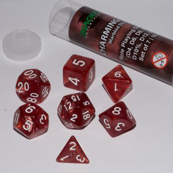 Blackfire Dice Set (7x 16mm Dice, Charming Red)