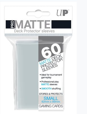 Ultra Pro Pro-Matte Deck Protector Small Sleeves, Clear (60ct)