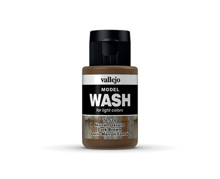 Vallejo Model Wash: Dark Brown
