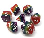 Blackfire Roleplaying Dice Set: Rainbow Dice (7pcs)