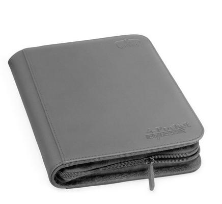 Ultimate Guard ZipFolio Xenoskin 4 Pocket Gray Binder