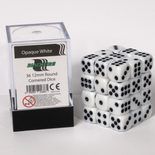 Blackfire Dice Cube, 36x 12mm D6, Opaque White