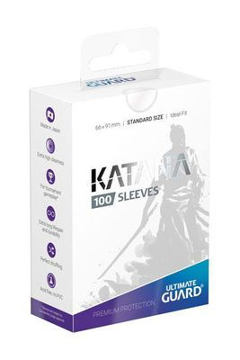 Ultimate Guard Katana Sleeves Standard Size Transparent (100ct)