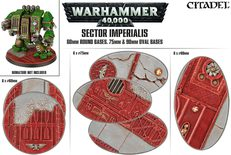 Warhammer 40,000: Sector Imperialis 60mm Round Bases, 75mm & 90mm Oval Bases