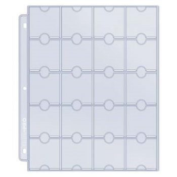Ultra Pro 20-Pocket Platinum Page for Coins and Tokens (10pcs)