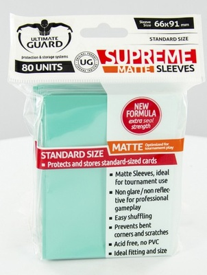 Ultimate Guard Supreme Sleeves Matte Turquoise (80pcs)
