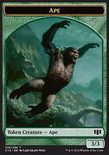 Ape 3/3 // Zombie x/x TOKEN - Commander 2014
