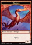 Dragon Token (Red 4/4) - War of the Spark