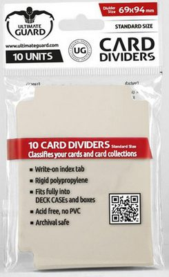 Ultimate Guard Card Dividers - Sand (10pcs)