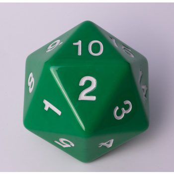 Blackfire D20 Countdown Die Green 55mm