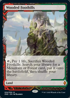 Zendikar Rising Wooded Foothills Expedition