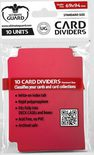 Ultimate Guard Card Dividers -  Red (10pcs)