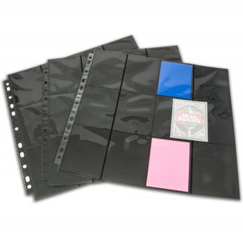 Blackfire 24-Pocket Pages - Black - Side Loading (10 pcs)