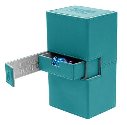 Ultimate Guard Deck Box, Twin Flip'n'Tray XenoSkin 200+ Petrol Blue