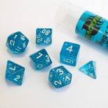 Blackfire Dice Set (7x 16mm Dice, Magic Blue)