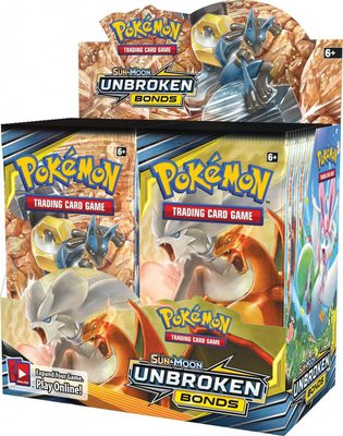 Pokemon SM10: Sun & Moon Unbroken Bonds Booster Display Box