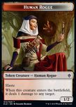 Human Rogue Token (Red and White 1/2) - Throne of Eldraine