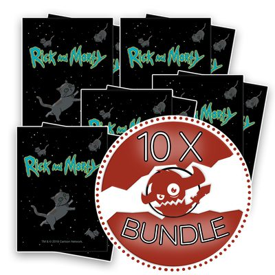 Ultra Pro Rick and Morty Version 2 Deck Protector Standard Sleeves Bundle (10 Packs, 65 Sleeves Per Pack)