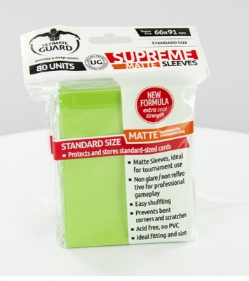 Ultimate Guard Supreme Sleeves Matte Light Green (80pcs)