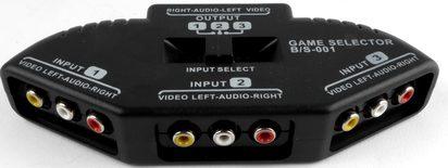 3 Way AV Switch Game Selector