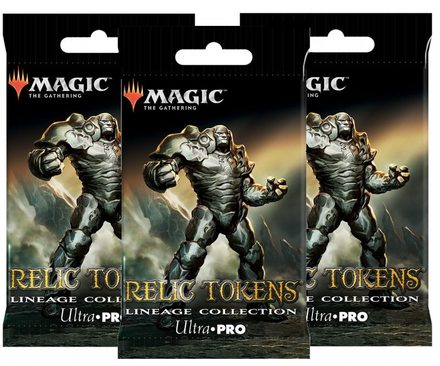 Ultra Pro Magic Relic Tokens: Lineage Collection Booster Bundle (3 packs)