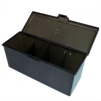 Blackfire 4-Compartment Storage Box: Black