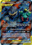 Marshadow & Machamp GX Full Art 198/214 - Sun & Moon Unbroken Bonds