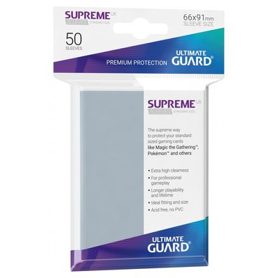 Ultimate Guard Supreme UX Sleeves Transparent / Clear (50pcs)