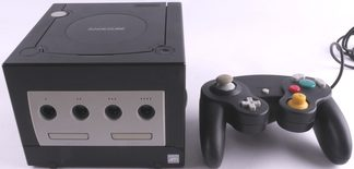 Nintendo Gamecube Console Black With 3rd Party Controller