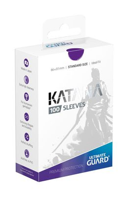 Ultimate Guard Katana Sleeves Standard Size Purple (100ct)