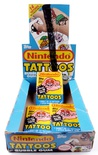 Nintendo Tattoos Bubble Gum Box + 3 Pack (1989)