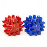 Blackfire Power & Toughness-Dice - Blue & Red (2 Pack)