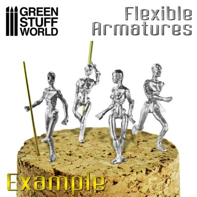 GSW Flexible Armatures for Sculpting in 28mm (4pcs)