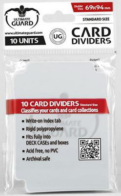 Ultimate Guard Card Dividers -  Clear (10pcs)