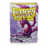 Dragon Shield Sleeves Matte Clear Purple (100ct)