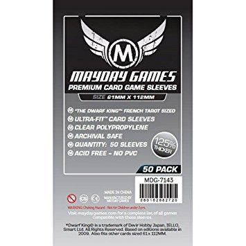 Mayday Games Boardgame Sleeves 61x112 mm (50pcs)