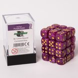 Blackfire Dice Cube, 36x 12mm D6, Marbled Purple with Gold