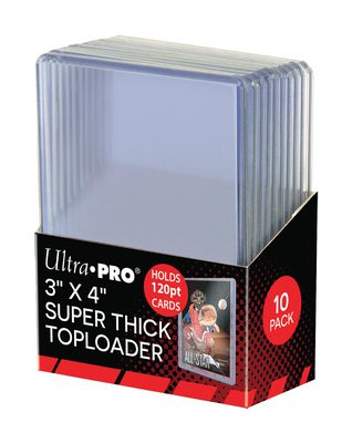 "Ultra Pro Super Thick Toploader 3x4"" 120PT (10ct)"