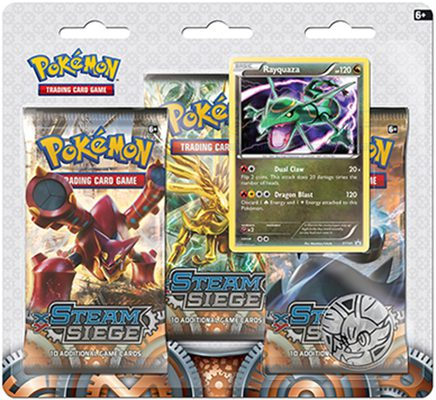 Pokemon XY11: Steam Siege 3-Pack Blister Rayquaza