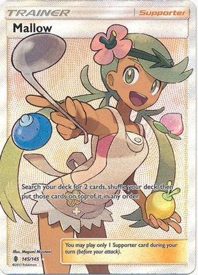 Mallow Full Art 145/145 - Sun & Moon Guardians Rising