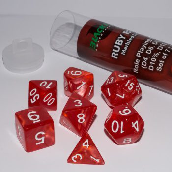 Blackfire Dice Set (7x 16mm Dice, Ruby Red)