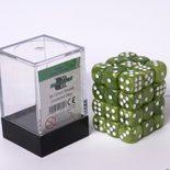 Blackfire Dice Cube, 36x 12mm D6, Marbled Grass Green