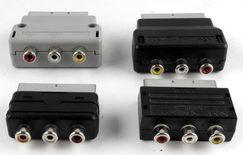 RGB SCART Plug Male to 3 RCA Female Adaptor