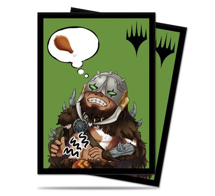 Ultra Pro Chibi Collection Garruk - I'm Starving! Standard Deck Protector sleeves (100ct)