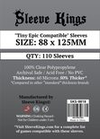 "Sleeve Kings Sleeves ""Tiny Epic Compatible"" 88x125mm (110ct)"