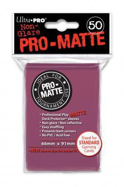Ultra Pro Sleeves Matte Blackberry (50pcs)