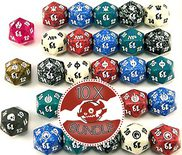 Spindown Lifecounter Bundle, Dice D20, (Varying colors) 10ct