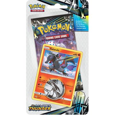 Pokemon SM8: Sun & Moon Lost Thunder Checklane Blister Salandit